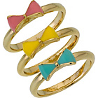 more details on 18ct Gold Stackable Bow Rings - Set of 3.