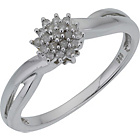 more details on 18ct White Gold 0.25ct tw Diamond Cluster Ring.