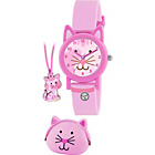 more details on Girl's Tikkers Pink Cat Watch Gift Set.