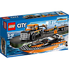 more details on LEGO CITY 4x4 with Powerboat - 60085.