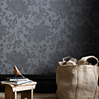 more details on Superfresco Wallpaper - Jacquard Charcoal.