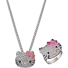 more details on Hello Kitty Glitzy Kitty Pendant & Adjustable Ring Set.