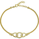 more details on 9ct Gold Plated Silver with Cubic Zirconia Circle Bracelet.