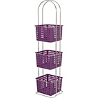 more details on ColourMatch Chrome 3 Drawer Caddy - Purple Fizz.