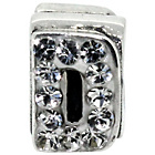 more details on Miss Glitter S.Silver Kids Stone Set Alphabet Charm - D.