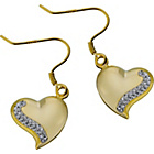 more details on Evoke 9ct Gold Plated Crystal Heart Drop Earrings.