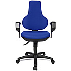 more details on Topstar Ergonomic Swivel Height Adjustable Chair - Blue.