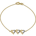 more details on 9ct Gold Single Cut Diamond Hearts Bracelet.