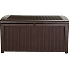 more details on Keter Borneo Rtn Efct Brown Storage Bench - 400L.