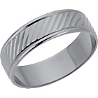 more details on 9ct White Gold Patterned Wedding Ring.