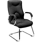 more details on Elf Cantilever Upholstered Leather Office Chair - Black.