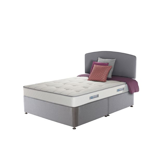 Buy sealy posturepedic firm ortho memory double divan bed for Double divan bed with firm mattress