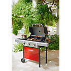more details on Outback Apollo 3 Burner Gas BBQ - Red.