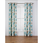 more details on Elissia Poppy Unlined Eyelet Curtain - 90x90in - Duck Egg.