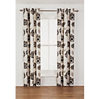 more details on Elissia Poppy Unlined Curtain - 168 x 183cm - Cream & Black.