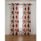 more details on Claudia Lined Eyelet Curtains - 66x72in - Red Cream.