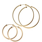 more details on 9ct Rolled Gold Hoop Earrings - Set of 2.