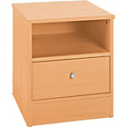 more details on Malibu 1 Drawer Bedside Chest - Beech Effect.