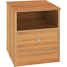 more details on Malibu 1 Drawer Bedside Chest - Pine Effect.