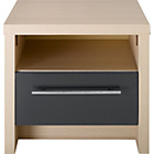 more details on Hygena Camden Bedside Chest - Oak and Graphite Gloss.