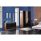 more details on Hygena Camden 3 Door 2 Drw Wardrobe - Walnut & Black Gloss.