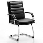 more details on Olivera Leather Cantilever Chair - Black and Chrome.