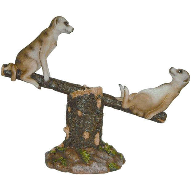 Buy meerkat seesaw garden ornament at your for Garden accessories online