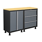 more details on NewAge Products Bold Series 3 Piece Cabinet Set - Grey.