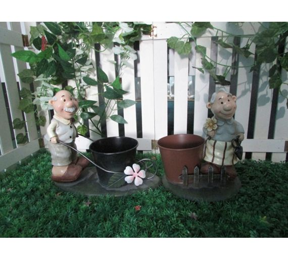 buy old couple pair of planters at your. Black Bedroom Furniture Sets. Home Design Ideas