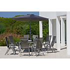 more details on Malibu 8 Seater Patio Set - Black.