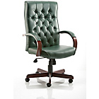 more details on Teknik Office Winston Leather Height Adjustable Green Chair.