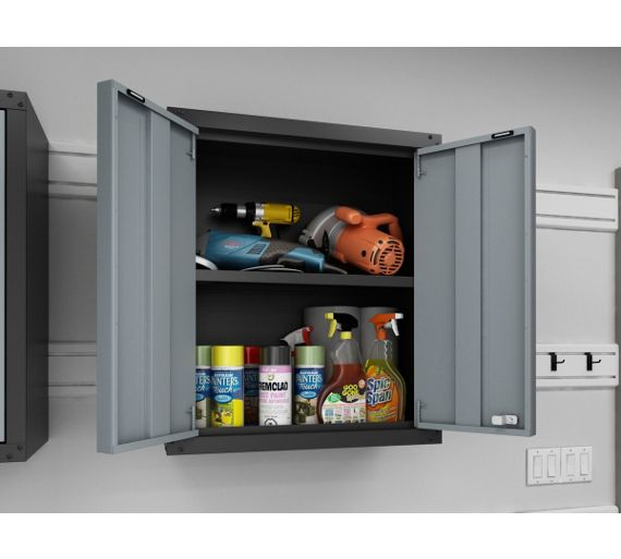 buy newage products bold series wall cabinet grey at. Black Bedroom Furniture Sets. Home Design Ideas