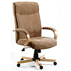 more details on Guildford Executive Suede Height Adjustable Chair - Brown.