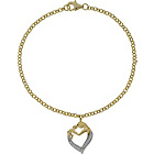 more details on 9ct Gold Plated Sterling Silver Mother and Child CZ Bracelet