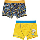 more details on Despicable Me Minions Boys' Blue 2 Pack Trunks - 3-4 Years.