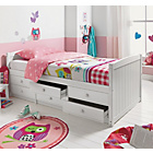 more details on Finn 6 Drawer White Cabin Bed with Ashley Mattress.