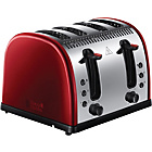 more details on Russell Hobbs 4 Slice Toaster - Red.