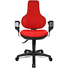 more details on Topstar Ergonomic Swivel Height Adjustable Chair - Red.