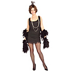 more details on 1920's Black Flapper Costume - Size 8-10.