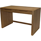 more details on Butler Wooden Home Office Desk with Drawers - Oak Veneer.