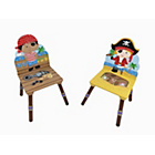 more details on Fantasy Fields Pirate 2 Chair Set - Black and Red Hat.