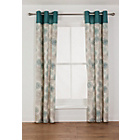 more details on Kaelan Eyelet Unlined Curtains - 46 x 72in - Teal.
