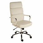more details on Deco Leather Effect Executive Chair - White.