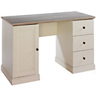 more details on Mannford Oak Effect Workstation with 3 Drawers - Cream.