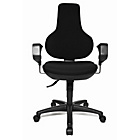 more details on Topstar Ergonomic Height Adjustable Swivel Chair - Black.