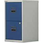 more details on Bisley 2 Drawer A4 Filing Cabinet - Grey/Blue.