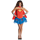 more details on DC Justice League Wonder Woman Corset Costume - Size 6-8.