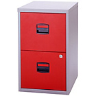 more details on Bisley 2 Drawer A4 Filing Cabinet - Grey/Red.