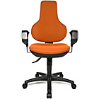 more details on Topstar Ergonomic Height Adjustable Swivel Chair - Orange.