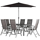 more details on Malibu 6 Seater Patio Furniture Set - Black.